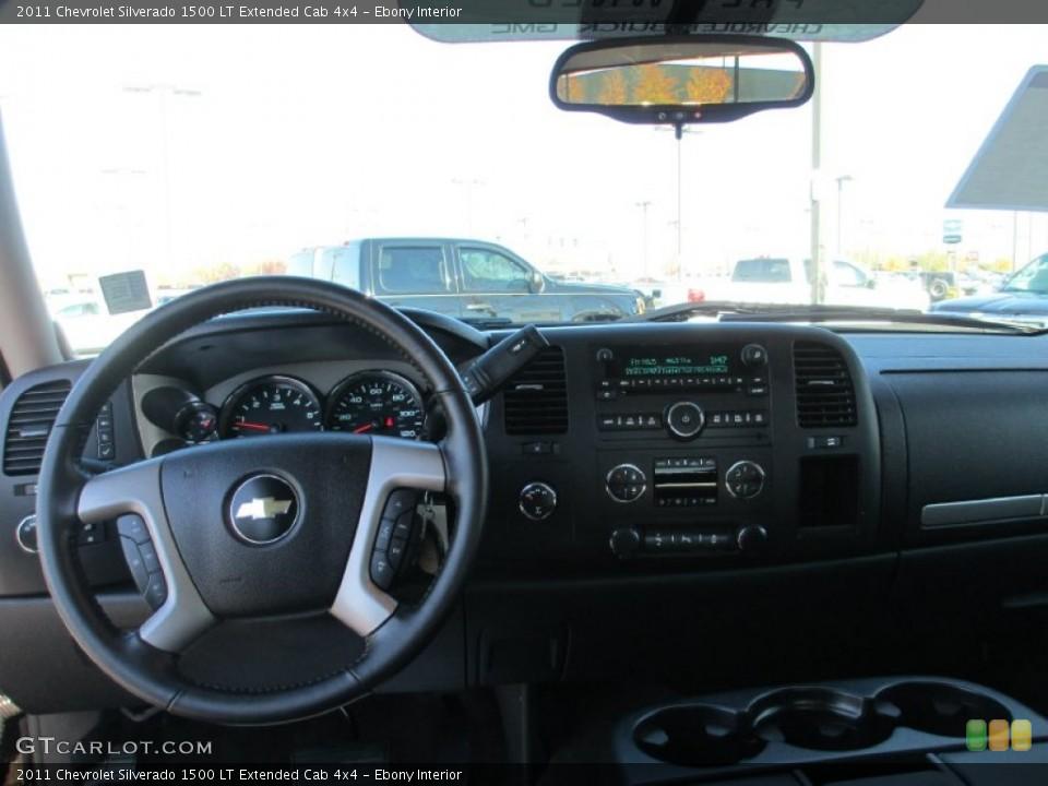 Ebony Interior Dashboard for the 2011 Chevrolet Silverado 1500 LT Extended Cab 4x4 #87491315