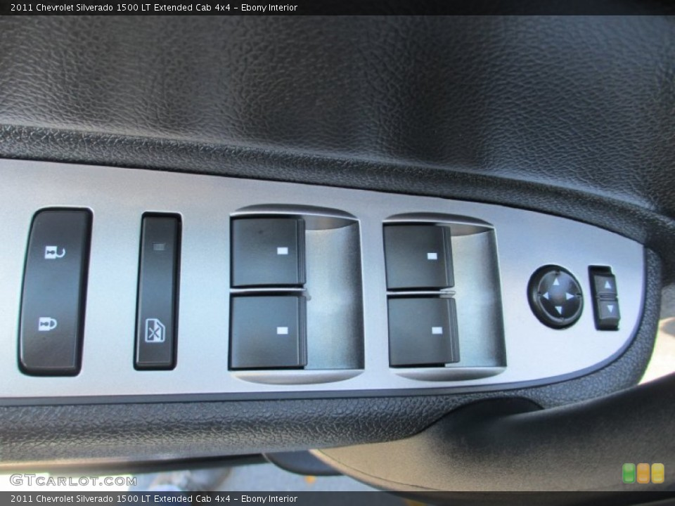 Ebony Interior Controls for the 2011 Chevrolet Silverado 1500 LT Extended Cab 4x4 #87491336