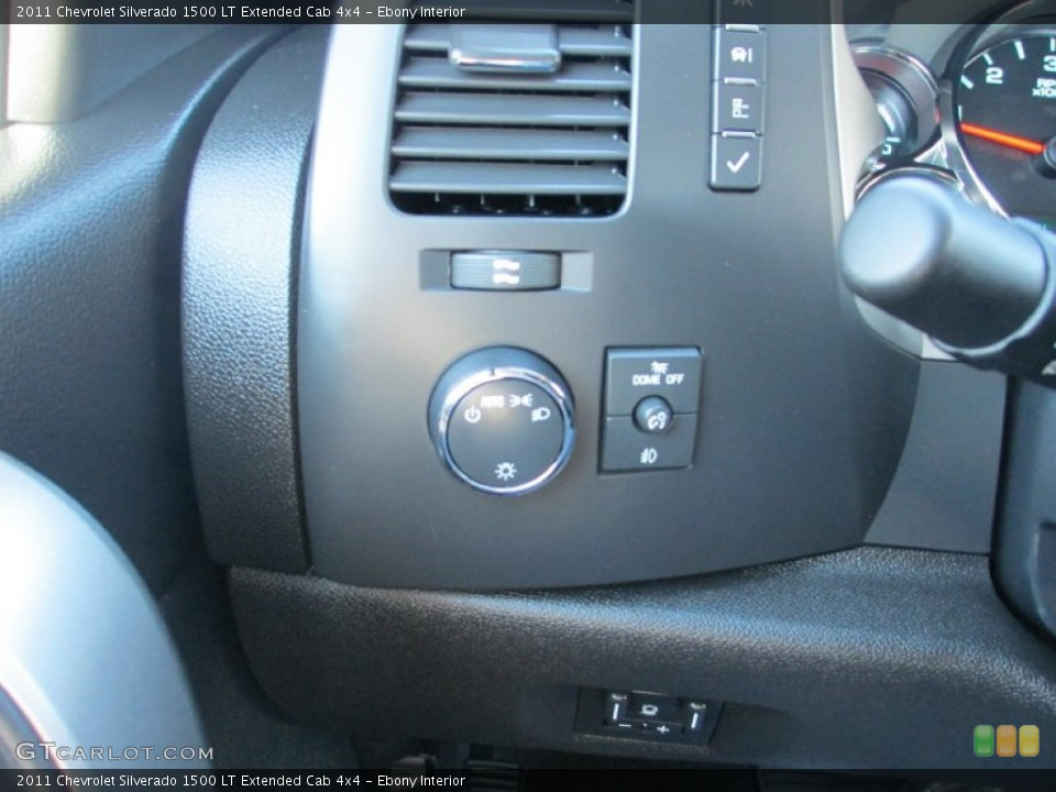 Ebony Interior Controls for the 2011 Chevrolet Silverado 1500 LT Extended Cab 4x4 #87491348