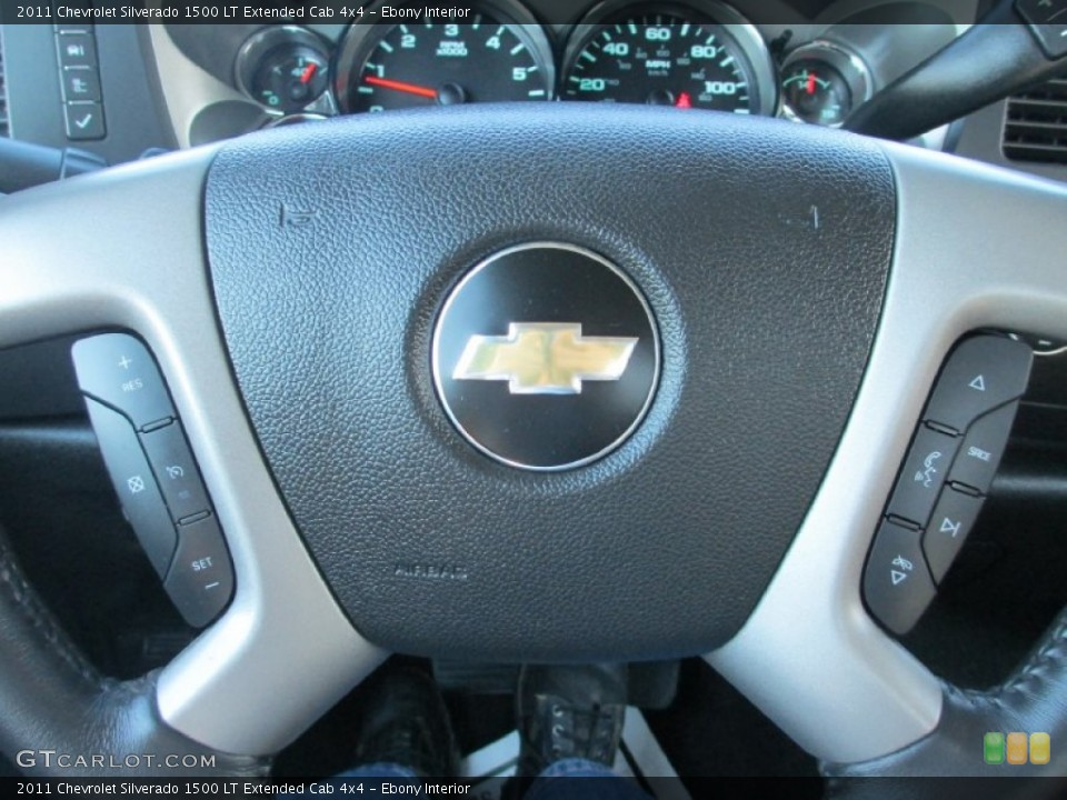 Ebony Interior Controls for the 2011 Chevrolet Silverado 1500 LT Extended Cab 4x4 #87491357