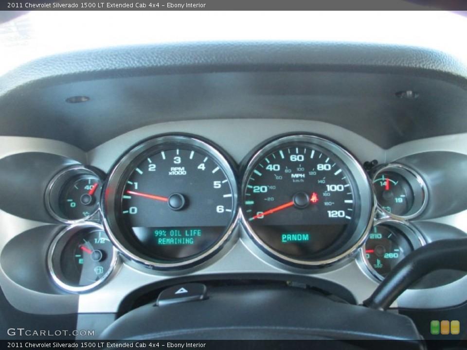 Ebony Interior Gauges for the 2011 Chevrolet Silverado 1500 LT Extended Cab 4x4 #87491366