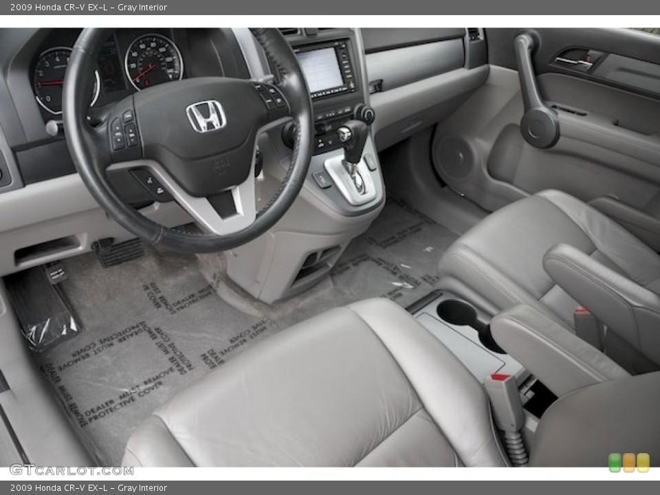 Gray Interior Photo for the 2009 Honda CR-V EX-L #88429377