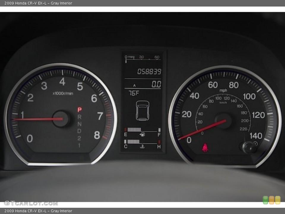 Gray Interior Gauges for the 2009 Honda CR-V EX-L #88429722
