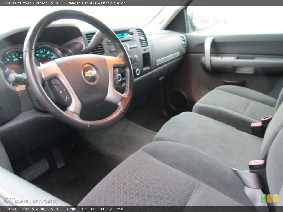 Ebony 2008 Chevrolet Silverado 1500 Interiors