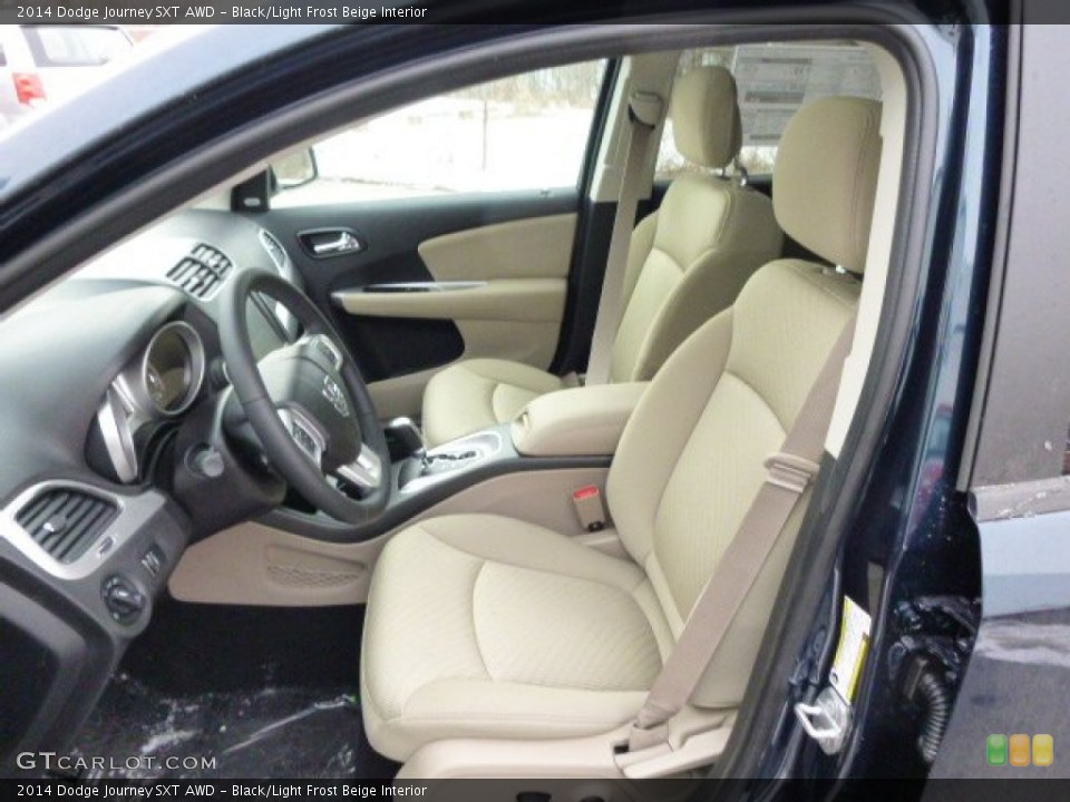 Black/Light Frost Beige 2014 Dodge Journey Interiors