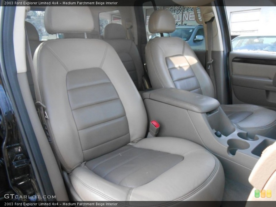 Medium Parchment Beige Interior Front Seat for the 2003 Ford Explorer Limited 4x4 #88736970