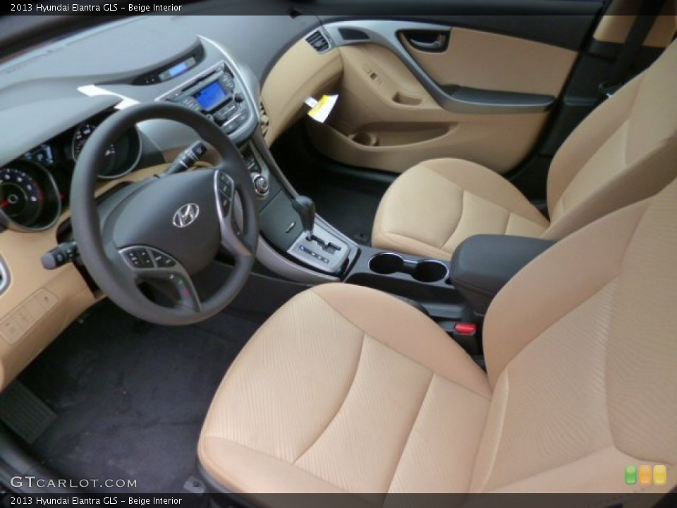 Beige 2013 Hyundai Elantra Interiors