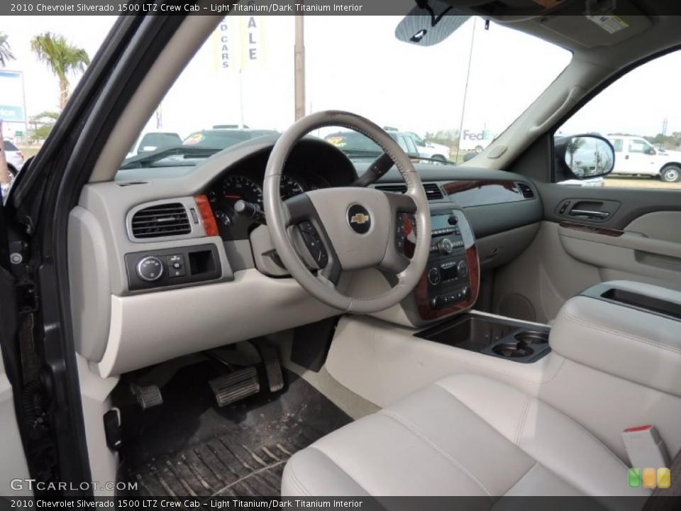 Light Titanium/Dark Titanium 2010 Chevrolet Silverado 1500 Interiors