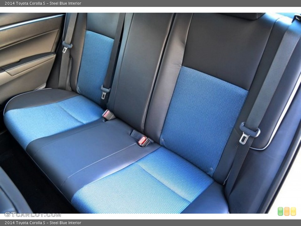 Steel Blue Interior Rear Seat for the 2014 Toyota Corolla S #89146872 ...