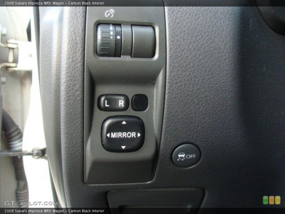 Carbon Black Interior Controls for the 2008 Subaru Impreza WRX Wagon #89155413