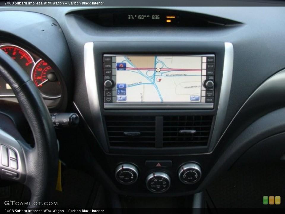 Carbon Black Interior Navigation for the 2008 Subaru Impreza WRX Wagon #89155449