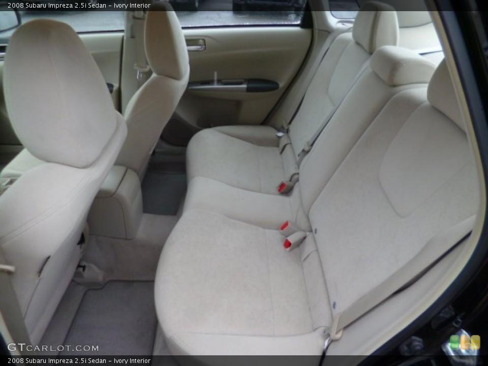 Ivory Interior Rear Seat for the 2008 Subaru Impreza 2.5i Sedan #89275383