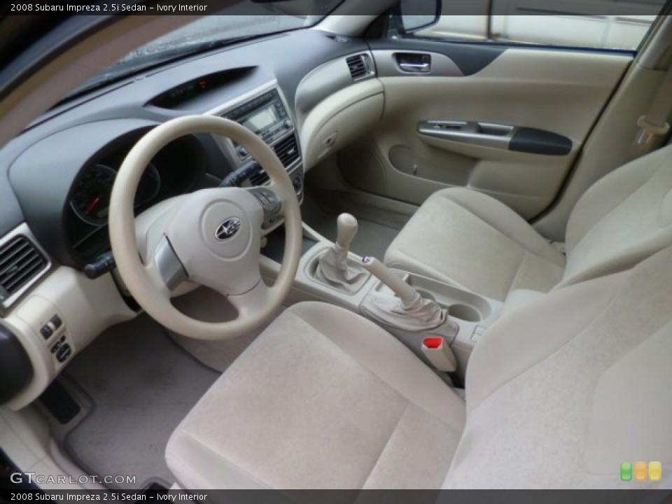 Ivory Interior Prime Interior for the 2008 Subaru Impreza 2.5i Sedan #89275407