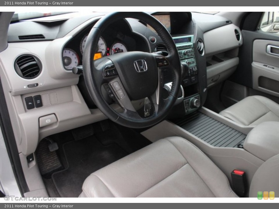 Gray Interior Prime Interior for the 2011 Honda Pilot Touring #89289618