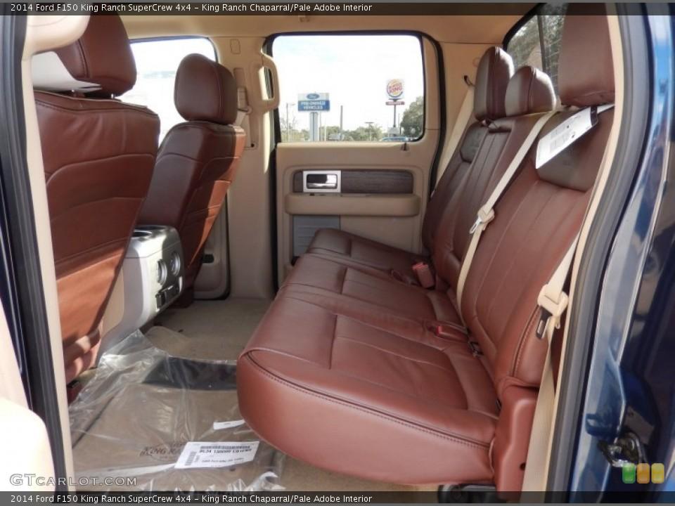king ranch chaparralpale adobe interior rear seat for the 2014 ford f150 king ranch - 2014 Ford F150 King Ranch Interior