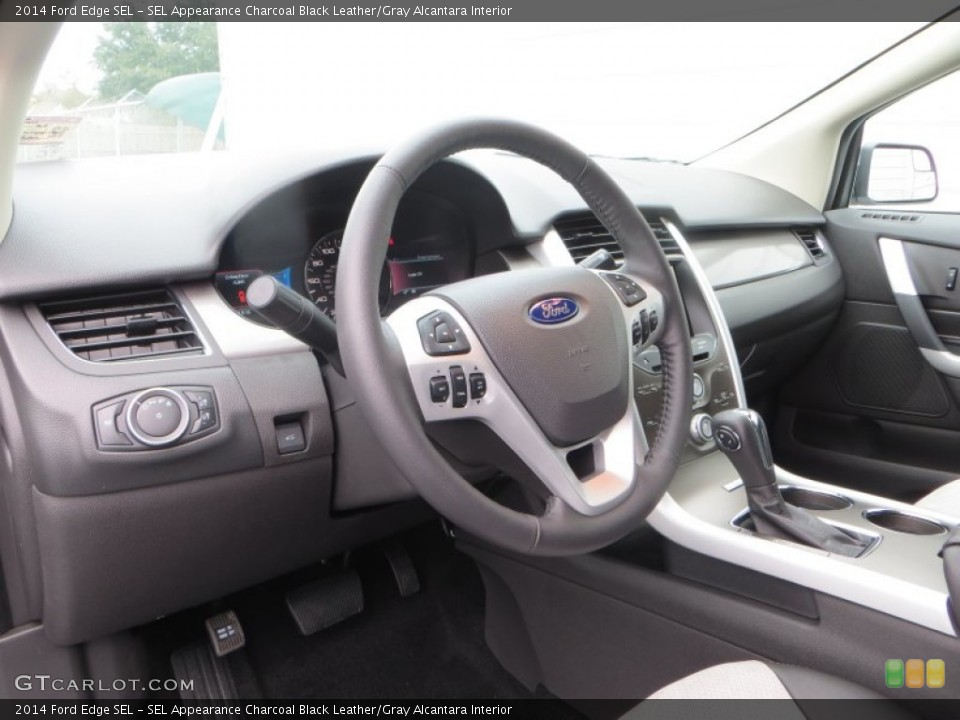 SEL Appearance Charcoal Black Leather/Gray Alcantara Interior Dashboard for the 2014 Ford Edge SEL #89517682