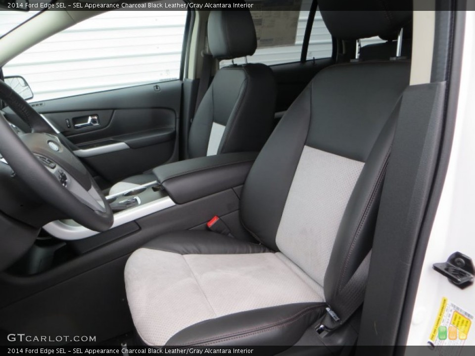 SEL Appearance Charcoal Black Leather/Gray Alcantara Interior Front Seat for the 2014 Ford Edge SEL #89517685