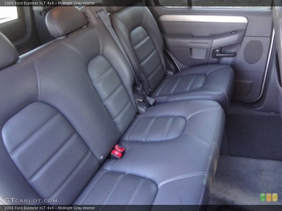 Midnight Gray Interior Rear Seat for the 2003 Ford Explorer XLT 4x4 #89565217