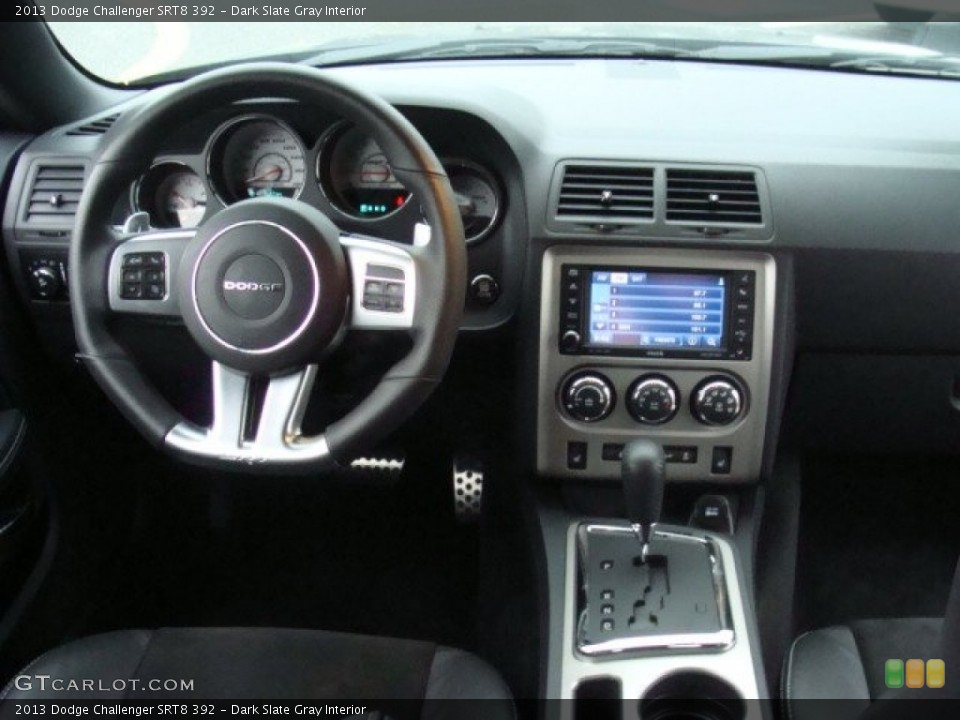 Dark Slate Gray Interior Dashboard for the 2013 Dodge Challenger SRT8 392 #89927772