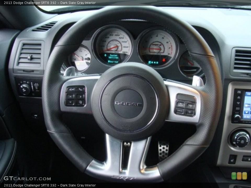 Dark Slate Gray Interior Steering Wheel for the 2013 Dodge Challenger SRT8 392 #89927790