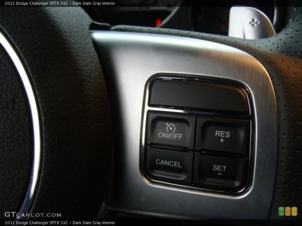 Dark Slate Gray Interior Controls for the 2013 Dodge Challenger SRT8 392 #89927832