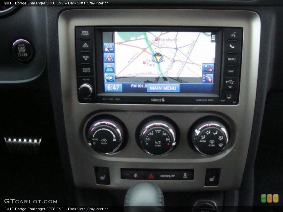 Dark Slate Gray Interior Controls for the 2013 Dodge Challenger SRT8 392 #89927865