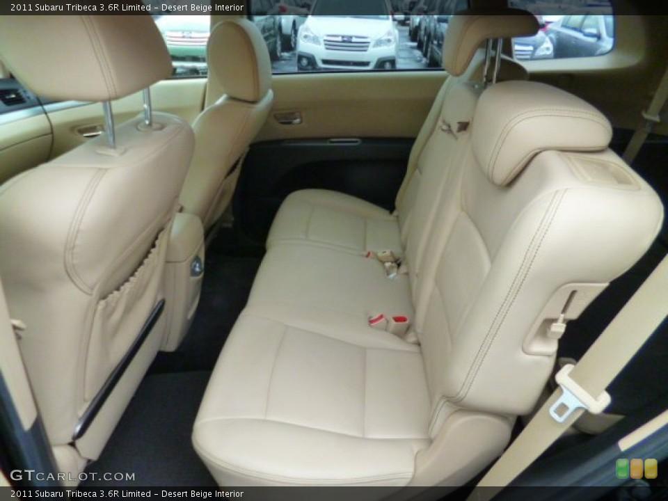 Desert Beige Interior Rear Seat for the 2011 Subaru Tribeca 3.6R Limited #89942524