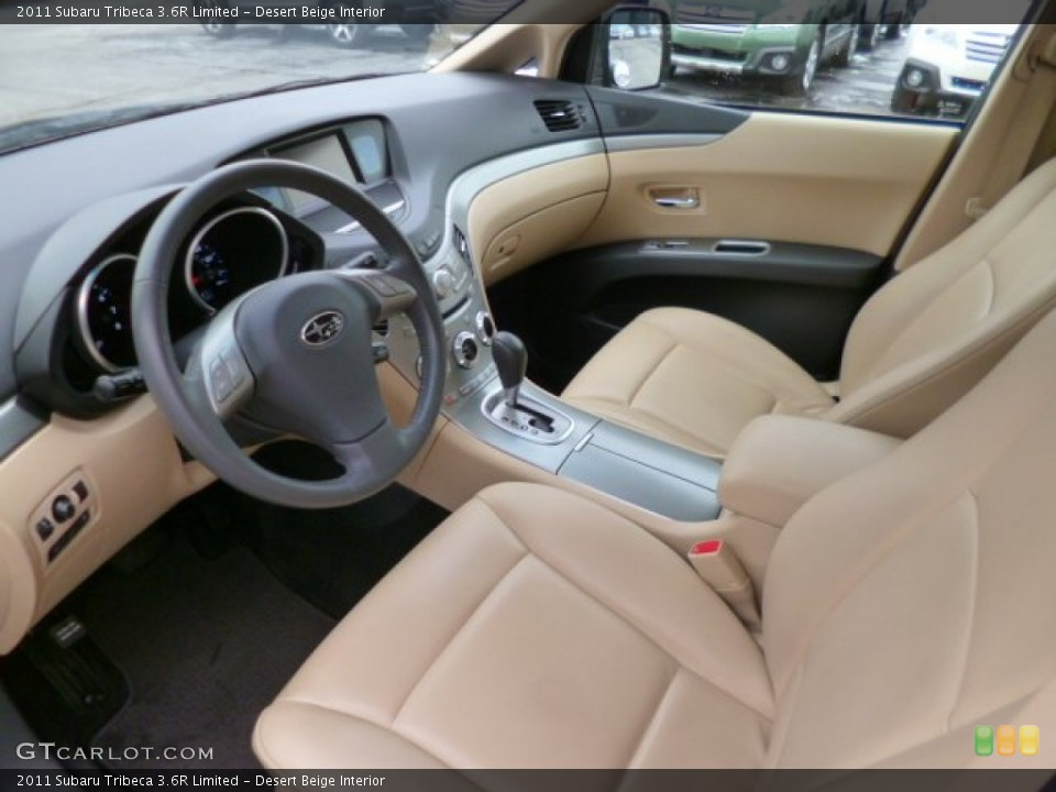 Desert Beige 2011 Subaru Tribeca Interiors