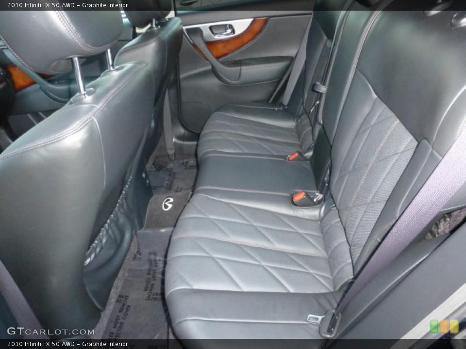 Graphite Interior Rear Seat for the 2010 Infiniti FX 50 AWD #89986658