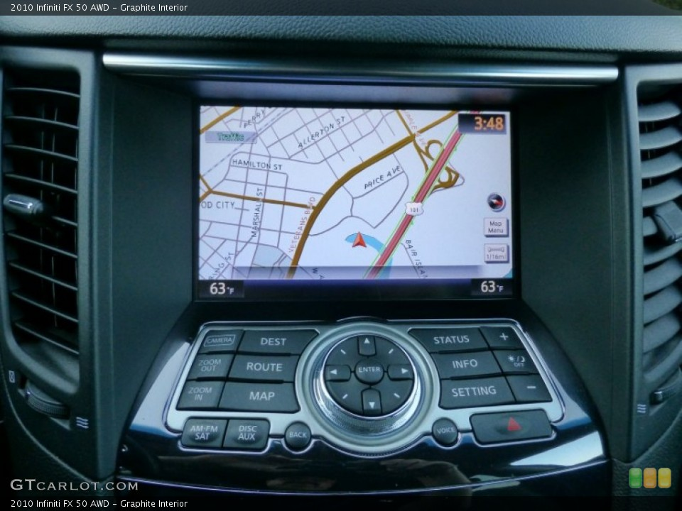 Graphite Interior Navigation for the 2010 Infiniti FX 50 AWD #89986859