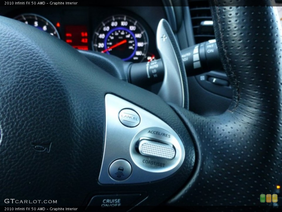 Graphite Interior Controls for the 2010 Infiniti FX 50 AWD #89986919