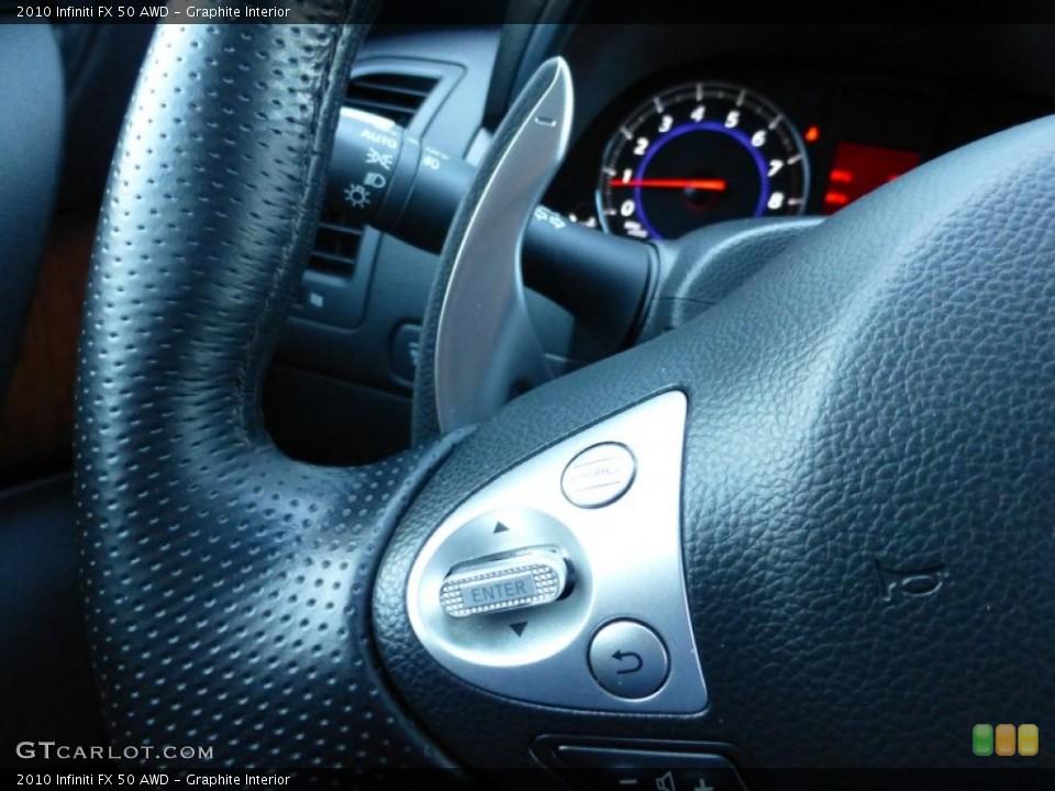 Graphite Interior Controls for the 2010 Infiniti FX 50 AWD #89986943