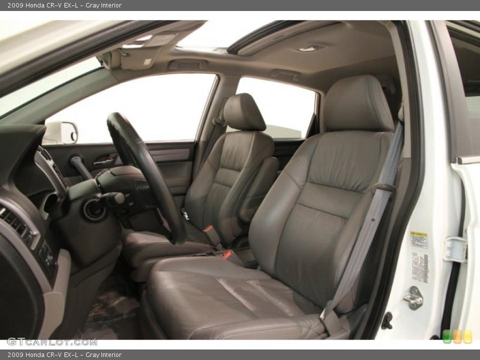 Gray Interior Front Seat for the 2009 Honda CR-V EX-L #90093837