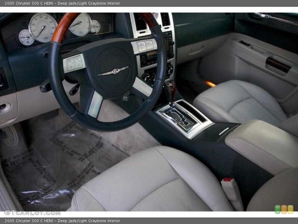 Deep Jade/Light Graystone 2005 Chrysler 300 Interiors