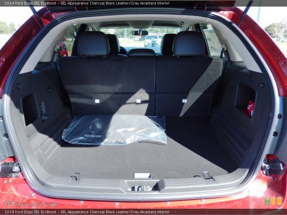 SEL Appearance Charcoal Black Leather/Gray Alcantara Interior Trunk for the 2014 Ford Edge SEL EcoBoost #90349146