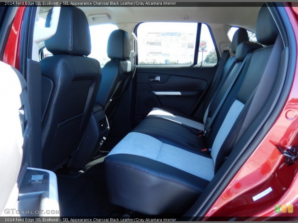 SEL Appearance Charcoal Black Leather/Gray Alcantara Interior Rear Seat for the 2014 Ford Edge SEL EcoBoost #90349194