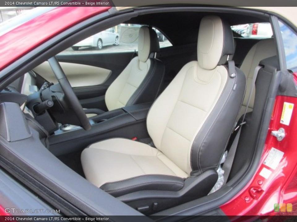 Beige 2014 Chevrolet Camaro Interiors