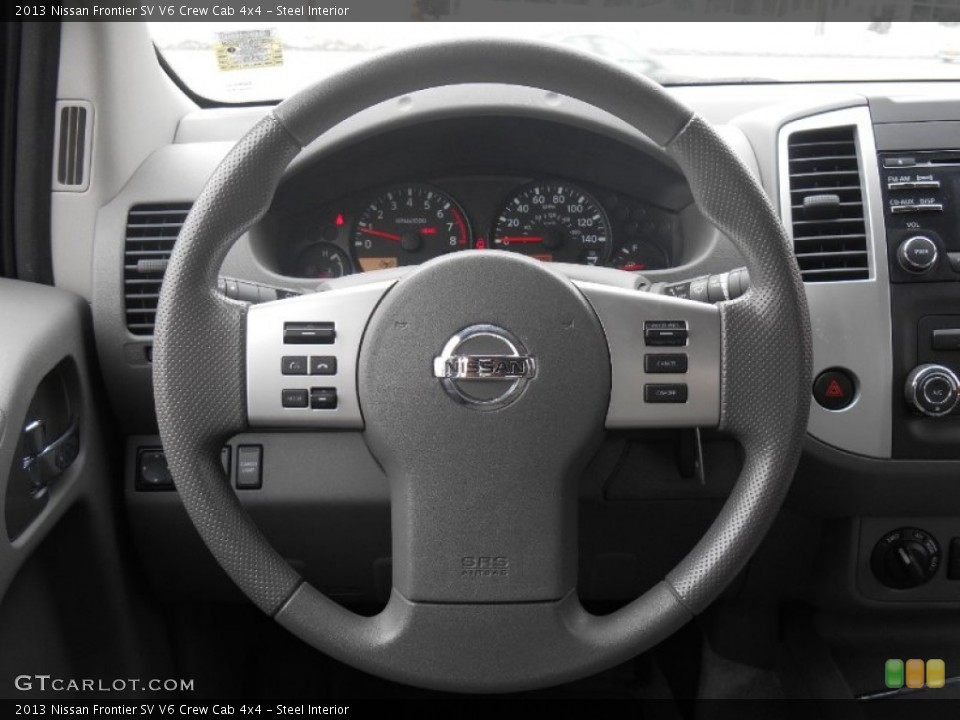 Steel Interior Steering Wheel for the 2013 Nissan Frontier SV V6 Crew Cab 4x4 #90933262