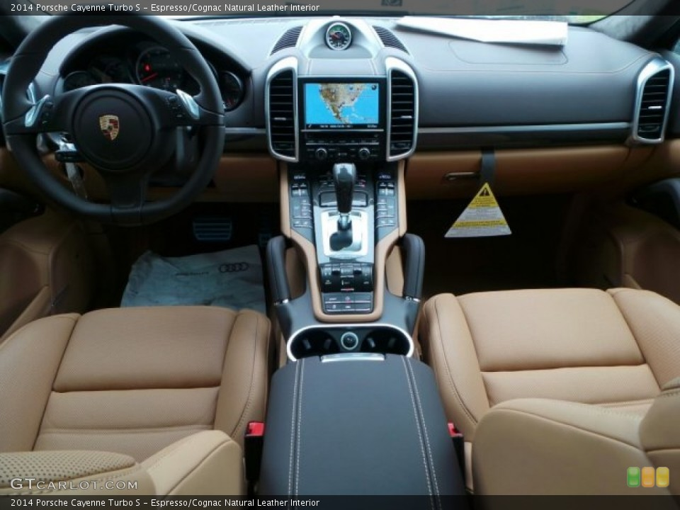 espressocognac natural leather interior dashboard for the 2014 porsche cayenne turbo s 91211143
