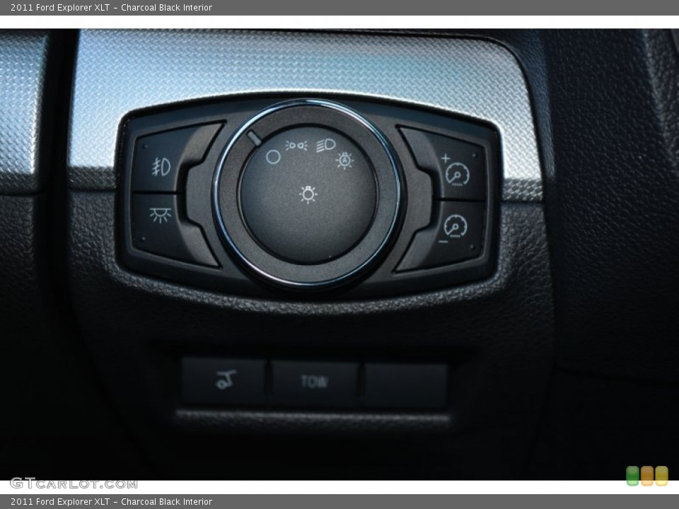 Charcoal Black Interior Controls for the 2011 Ford Explorer XLT #91415405