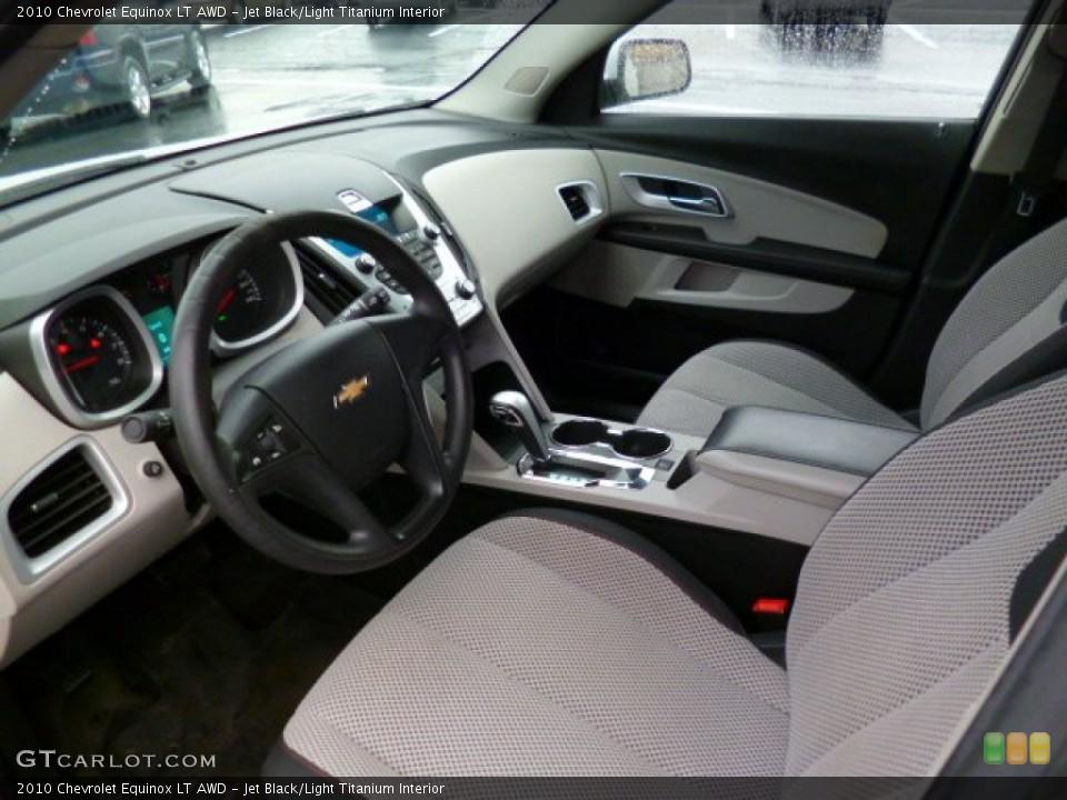 Jet Black/Light Titanium 2010 Chevrolet Equinox Interiors