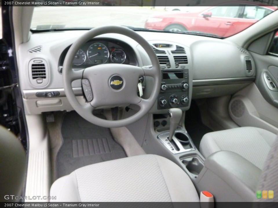Titanium Gray 2007 Chevrolet Malibu Interiors