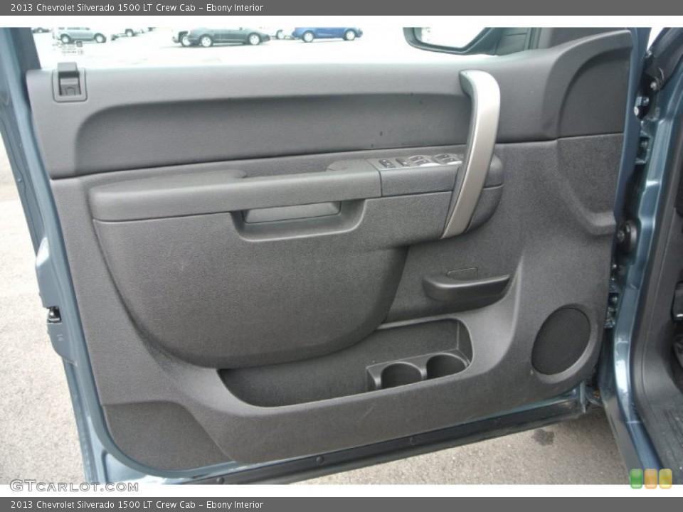 Ebony Interior Door Panel for the 2013 Chevrolet Silverado 1500 LT Crew Cab #91638225