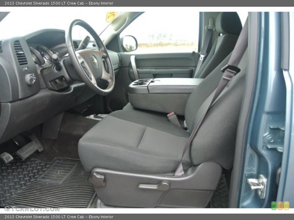 Ebony Interior Photo for the 2013 Chevrolet Silverado 1500 LT Crew Cab #91638233