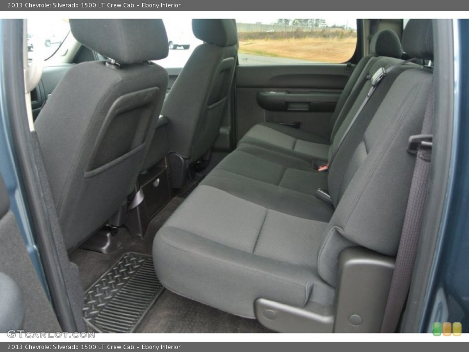 Ebony Interior Rear Seat for the 2013 Chevrolet Silverado 1500 LT Crew Cab #91638273