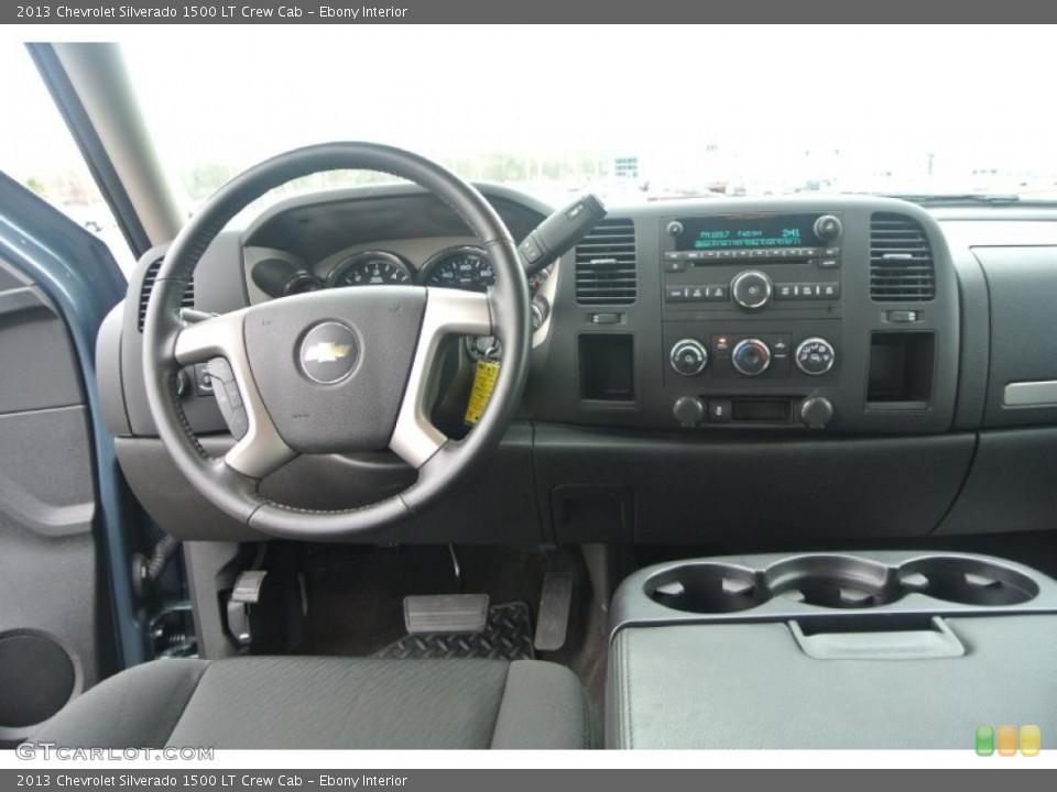 Ebony Interior Dashboard for the 2013 Chevrolet Silverado 1500 LT Crew Cab #91638282
