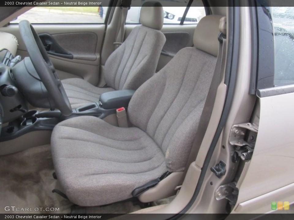 Neutral Beige Interior Photo for the 2003 Chevrolet Cavalier Sedan #91721653