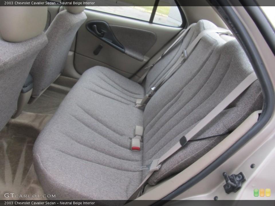 Neutral Beige 2003 Chevrolet Cavalier Interiors