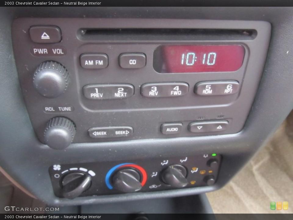 Neutral Beige Interior Controls for the 2003 Chevrolet Cavalier Sedan #91721767