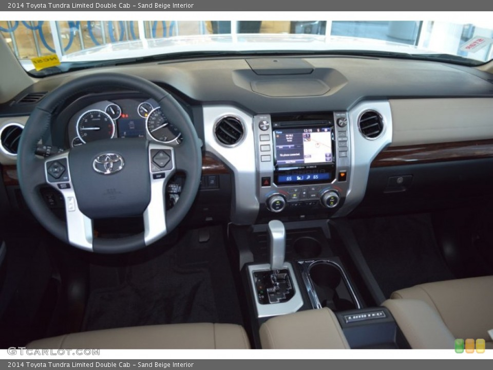 Sand Beige Interior Dashboard for the 2014 Toyota Tundra ...